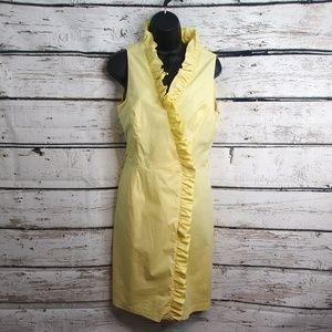 Antonio Melani/ Yellow Ruffle Wrap Dress/ Sz 6